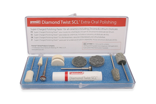Diamond Twist SCL extra-oral polishing