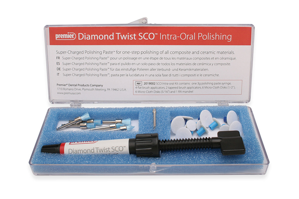 Diamond Twist SCO intra-oral polishing